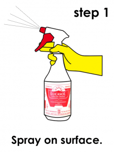 LUCASOL Spray Bottle Surface Disinfectant